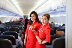 Airasia załoga członkowie Zdjęcia Royalty Free
