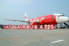 airasiaflygplan Arkivfoto