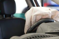 Airbag éclaté photos libres de droits