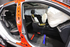 Airbag aperto fotografia stock