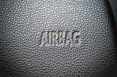 Airbag caption Royalty Free Stock Photos