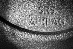 Airbag. Car save drivers life Stock Photo