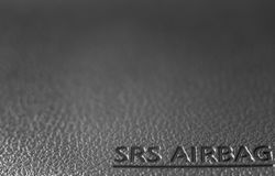 Airbag. Car save live drivers Royalty Free Stock Photo