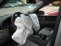 Airbag deployment Royalty Free Stock Photo