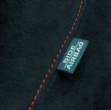 airbag etykietki bezpieczeństwo Fotografia Stock