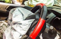 Airbag explodiert Lizenzfreie Stockfotos