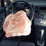 Airbag explosion Stock Photography