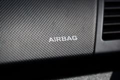 Airbag on the front of the car Royalty Free Stock Images