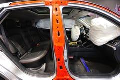 Airbag i bilen Arkivfoton