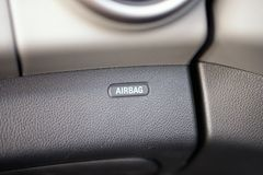 Airbag icon in car Royalty Free Stock Image