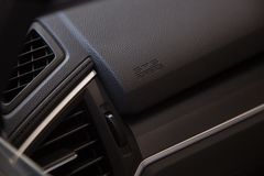 Airbag icon in the car Stock Photos