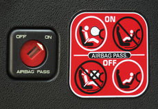 Airbag instruction Royalty Free Stock Photos