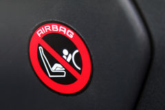 Airbag majcher Zdjęcia Stock