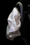 Airbag med olycka royaltyfria foton