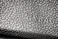 Airbag notacja zdjęcie stock