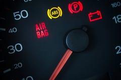 Airbag ostrzegawczy światło obraz royalty free