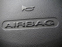 Airbag Sign Stock Images