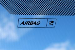 Airbag. Sign in car Stock Photography