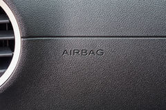 Airbag sign in the car Stock Image