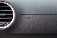 Airbag sign in the car Stock Images