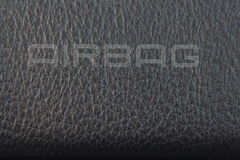 Airbag sign close up Stock Photo