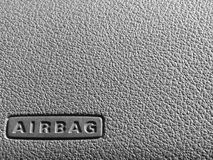 Airbag sign on a dashboard Royalty Free Stock Image