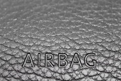 Airbag sign on dashboard. Airbag sign on a dashboard in car Stock Images