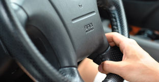 airbag som kör srs Arkivbild