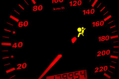 Airbag warning light. Royalty Free Stock Photos