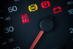 Airbag warning light. Royalty Free Stock Image
