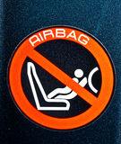 Airbag warning sign Stock Images