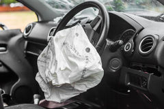 Airbag work Royalty Free Stock Photos
