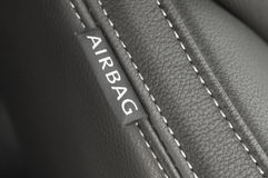 airbagetikettstextil Royaltyfria Foton