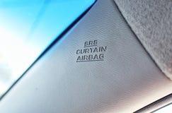 Airbagtecken Fotografering för Bildbyråer