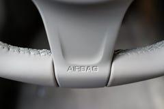 Airbagzeichen Stockfoto