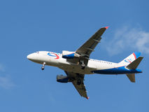 Airbas A319 aircraft Ural Airlines Royalty Free Stock Photo