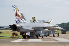 Airbase flightline Stock Photos