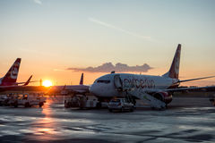 AirBerlin航空器 免版税图库摄影