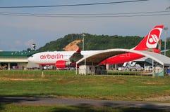 AirBerlin à Phuket Thaïlande Image stock