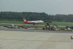 Airberlin aircraft taking off Royalty Free Stock Photos
