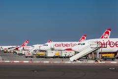 Airberlin-Flugzeuge in Berlin Germany Stockbild