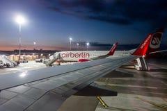 AirBerlin flygplan Arkivbild