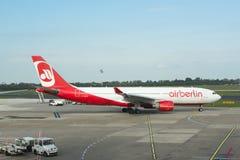 Airberlinvliegtuig Stock Foto's
