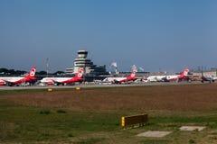 Airberlinvliegtuigen in Berlin Germany Royalty-vrije Stock Afbeeldingen
