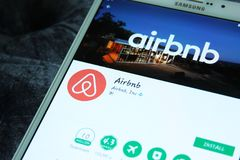 Airbnb app Stock Image