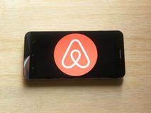 Airbnb app royalty-vrije stock afbeelding