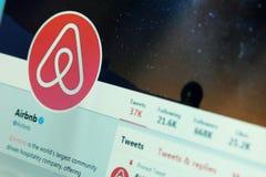 Airbnb en gorjeo imágenes de archivo libres de regalías