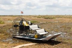 Airboat, болотистые низменности Стоковое Фото