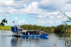 Airboat de los marismas imágenes de archivo libres de regalías