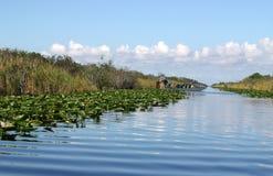 Airboat in den Sumpfgebieten Lizenzfreies Stockfoto